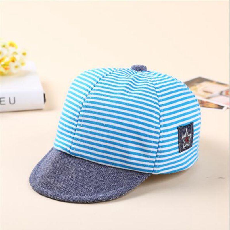 Baby Boys Girls Toddler Summer Cotton Hats Striped Baseball Cap Beret Sun Hat