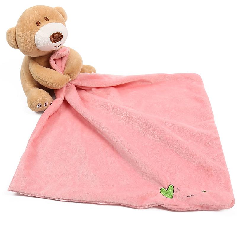 Cute Doll Bear /& Towel Cotton Soft Baby Girl BoySleeping Stuffed Toy  Plush Toy
