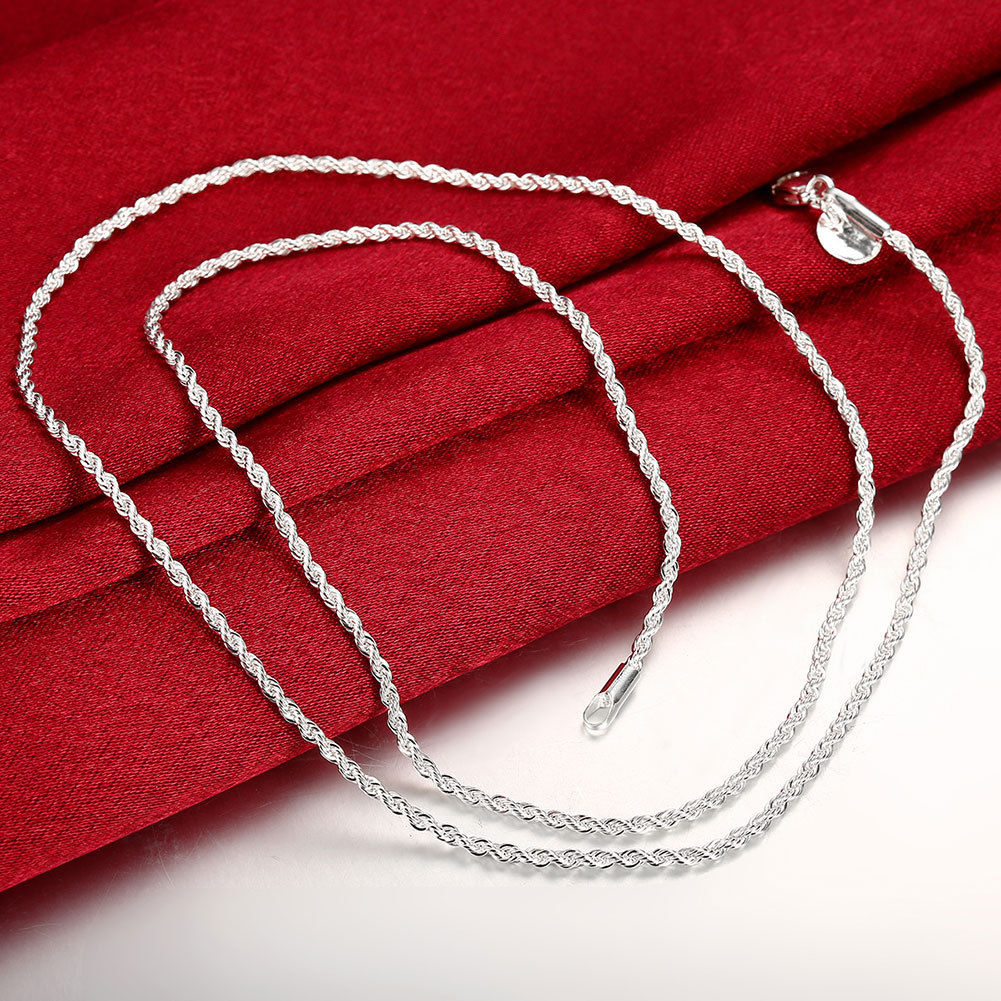Silver Rope Bracelet: Top Quality Silver Sterling 2mm Twisted Rope Chain