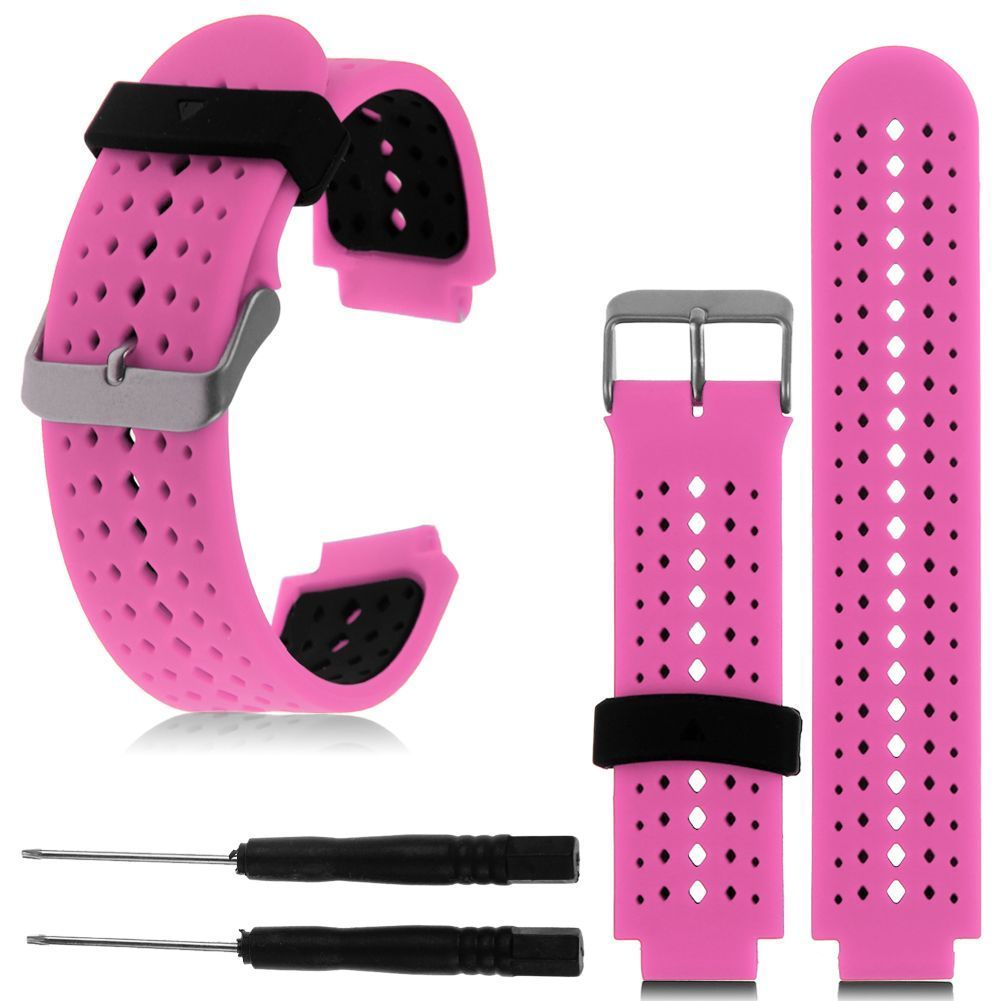 Hot-Soft-Silicone-Replacement-Wrist-Watch-Band-for-Garmin-Forerunner-230-235-630