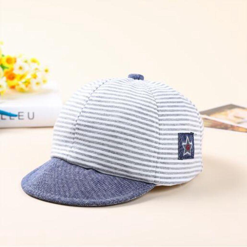 Baby Boys Girls Toddler Summer Cotton Hats Striped Baseball Cap ... 21519b0808da