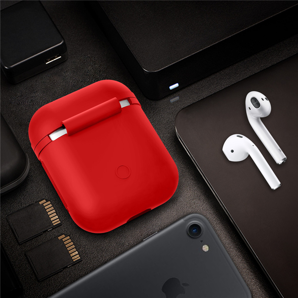 New Silicone Airpods Protective Cover Case Slim Skin for