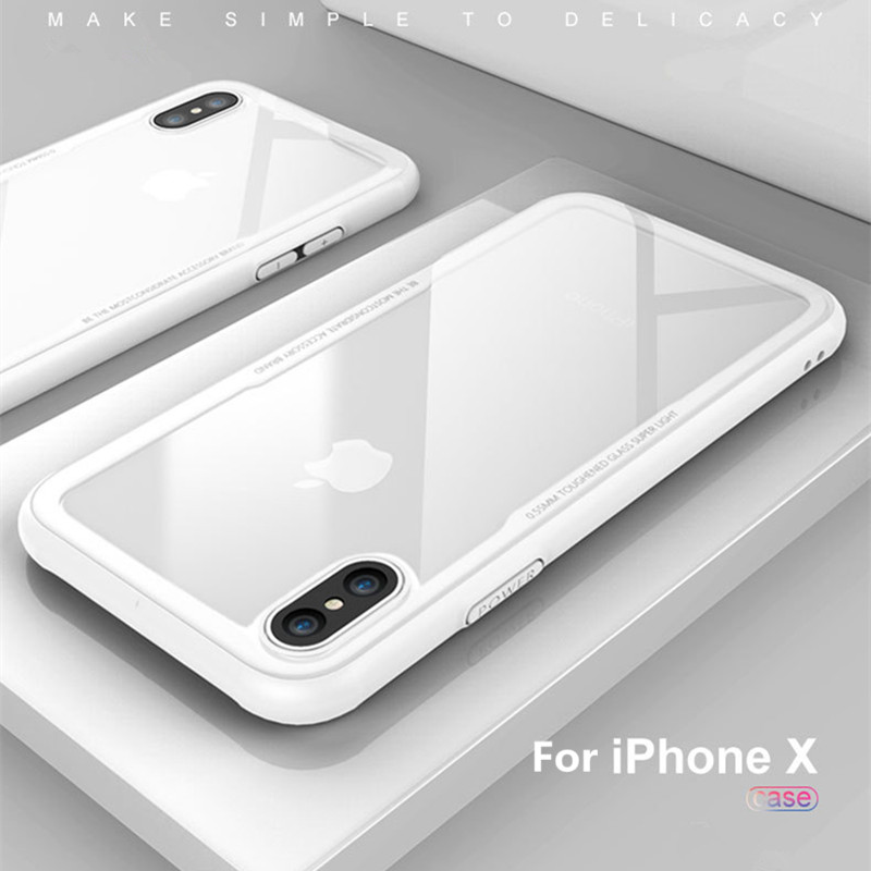 Clear-Tempered-Glass-Back-Cover-TPU-Case-Phone-Protection-Case-For-iPhone-X