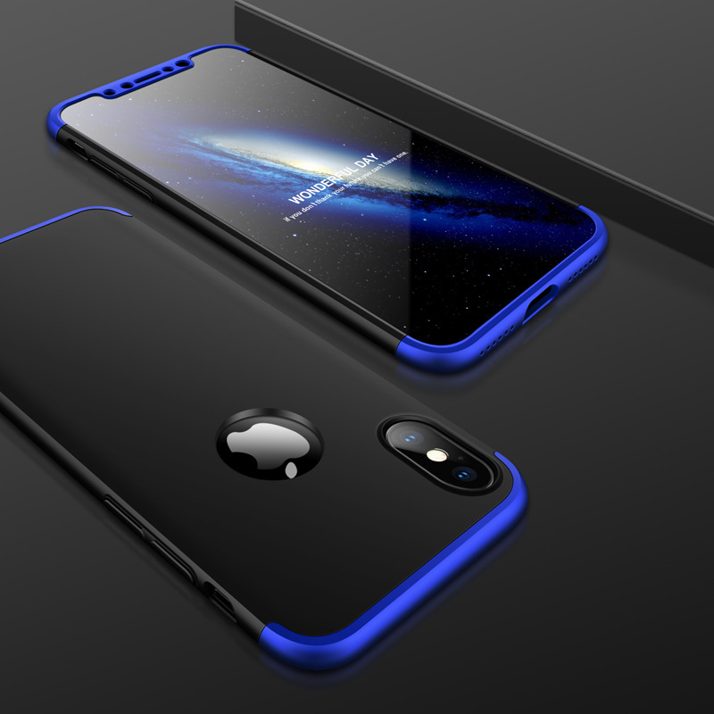 Luxury-360-Full-Body-Slim-Hard-PC-Hybrid-Case-Cover-For-iPhone-X-8-7-6S-6-Plus
