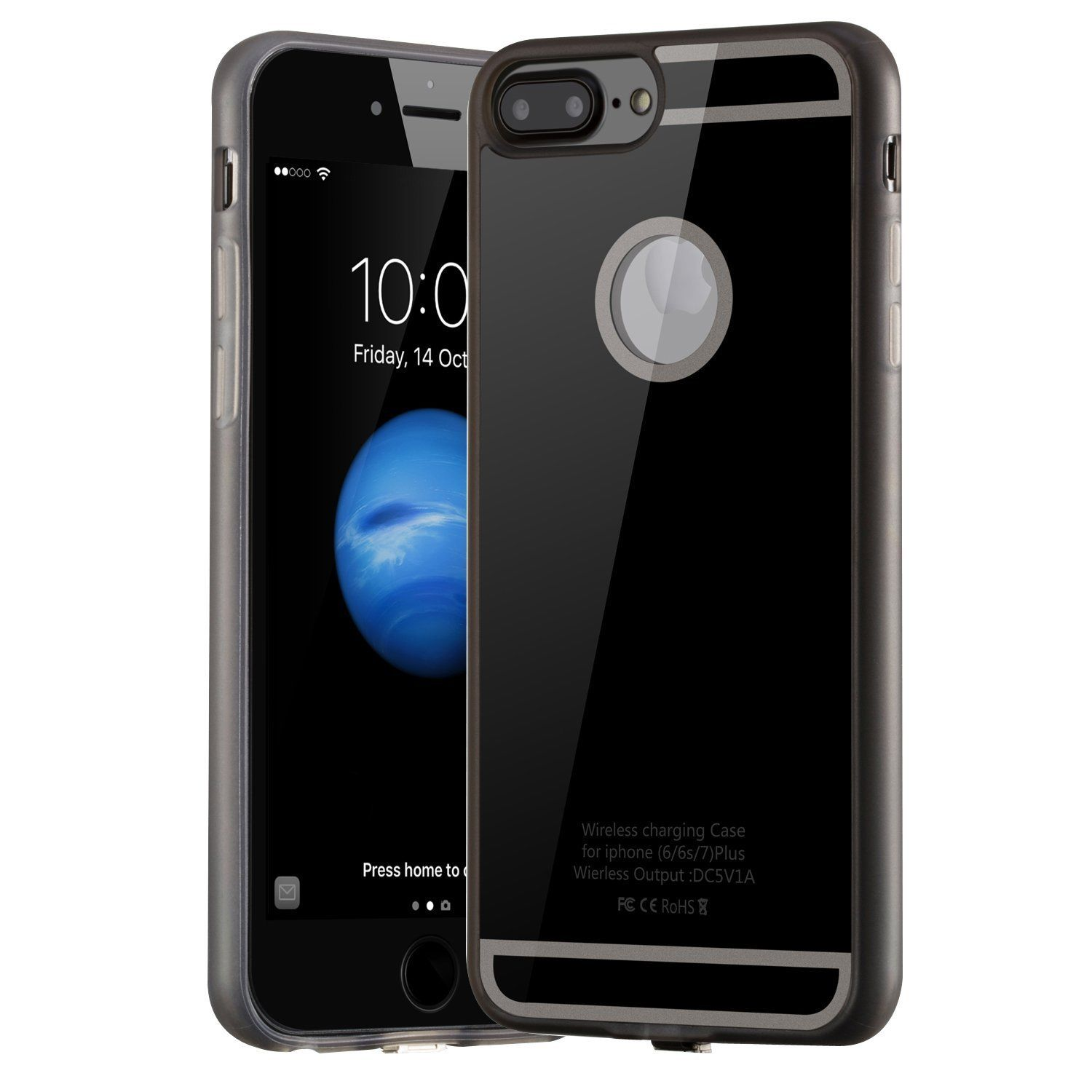 qi wireless charger pad slim receiver cover for iphone 7 6. Black Bedroom Furniture Sets. Home Design Ideas
