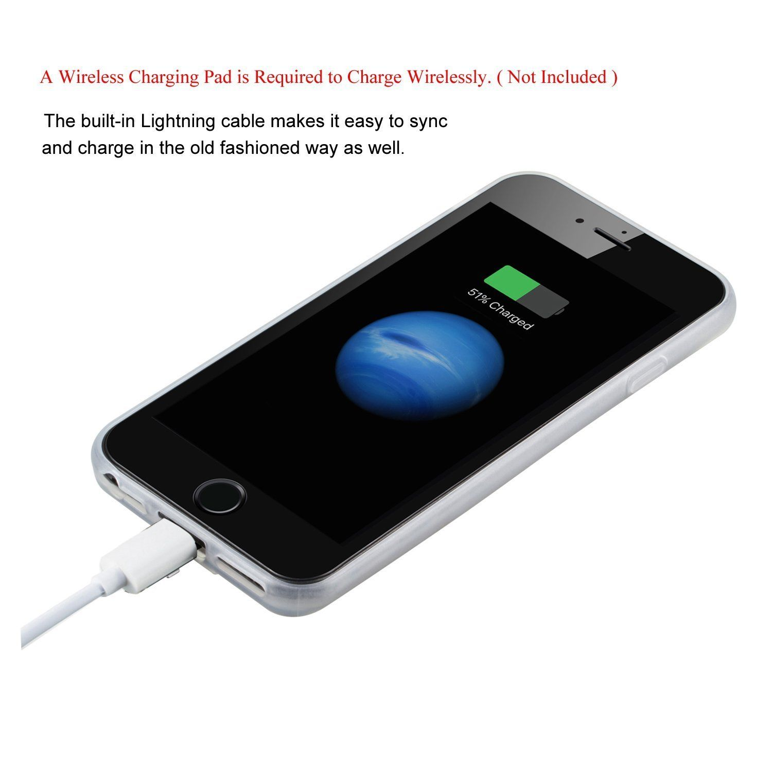iphone wireless charging pad qi wireless charger pad slim receiver cover for iphone 7 6 9571