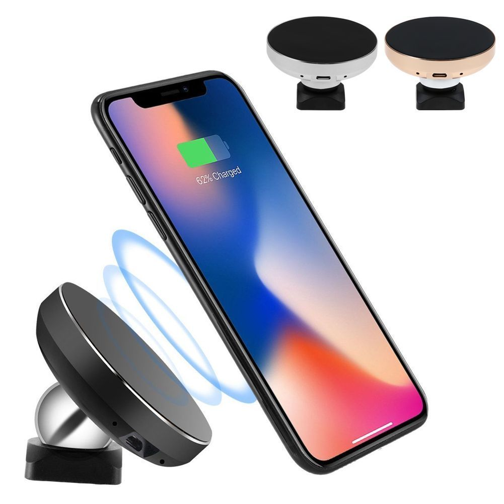 magnetic wireless qi cell phone charger air vent car fast. Black Bedroom Furniture Sets. Home Design Ideas