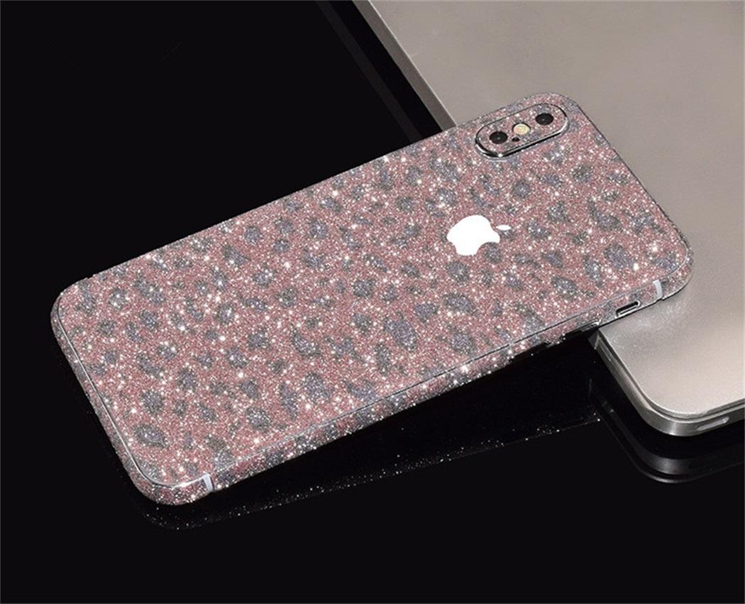 Full Body Glitter Bling Sticker Wrap Protector Case Cover Skin for iPhone x 4113c69761