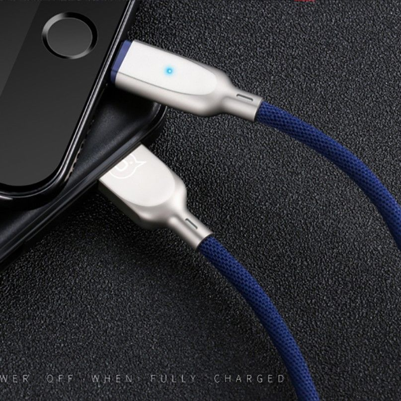 Usams Smart Led Auto Disconnect Lightning Data Usb Cable
