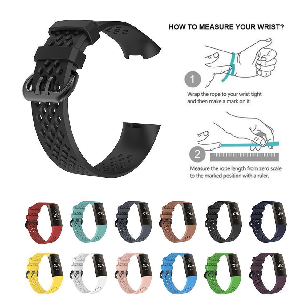 Details about Luxury For Fitbit Charge 3 Silicone Strap Replacement  Wristband Watch Bracelet