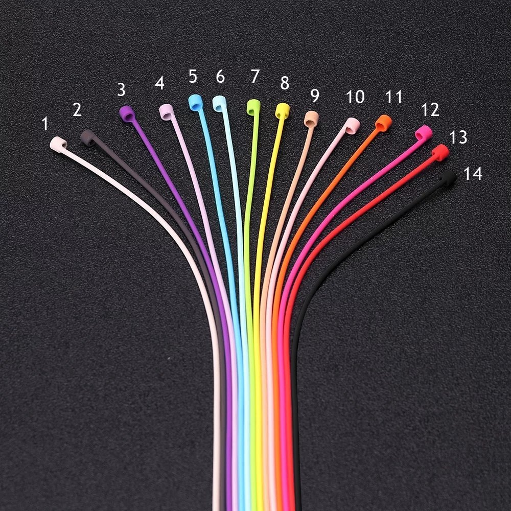 New Utility Airpods Strap Cable Cord Colorful Wire Anti Lost Rope ...