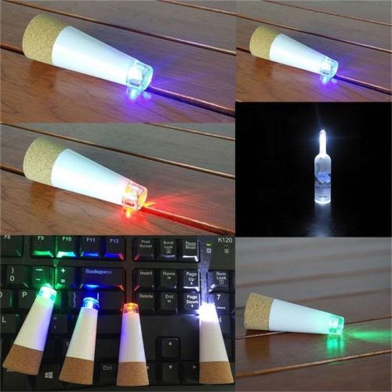 UK Stock Rechargeable USB Round Cork Bottle Stopper Wine LED Lights Lamp Event