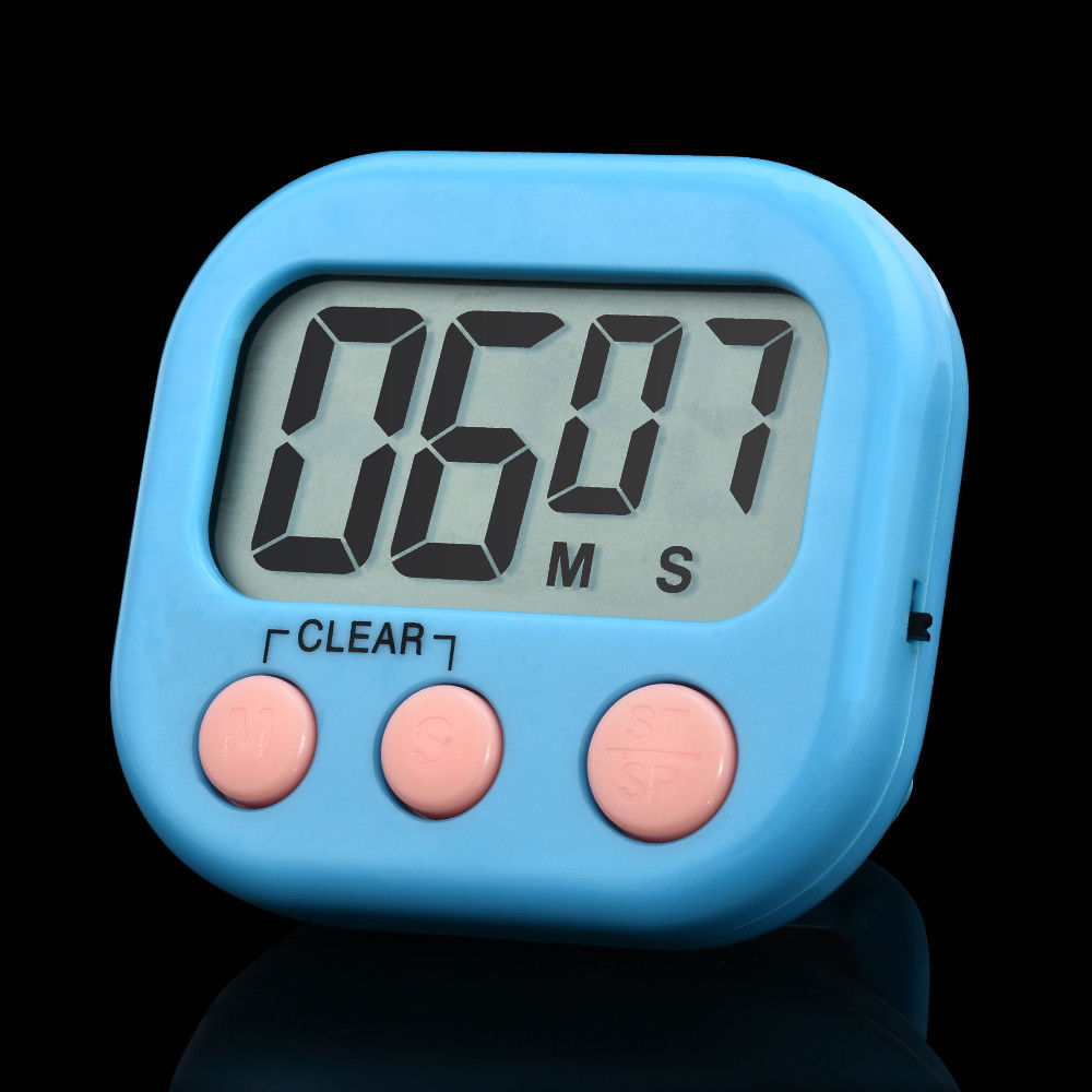 Large LCD Digital Kitchen Timer Magnetic Cooking Count-Down Up Clock ...