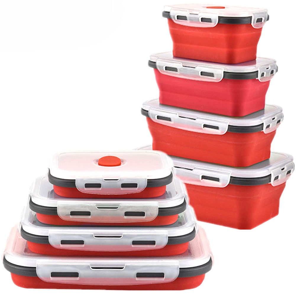 Container Store Lunch Box: Sailing Elegant Silicone Collapsible Lunch Box/Food