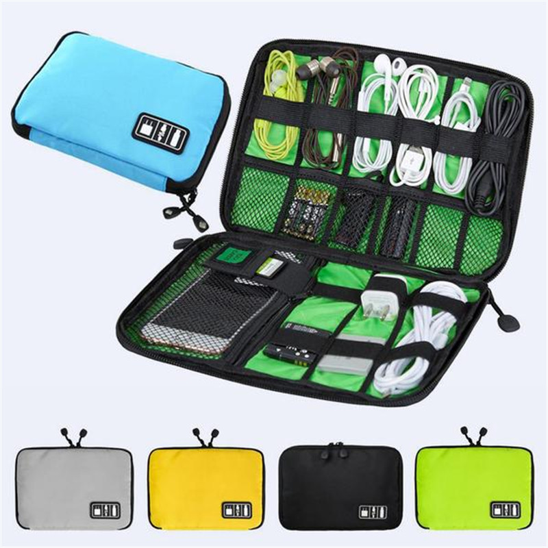 US Electronic Accessories Cable USB Drive Organizer Bag Portable Travel Pouch