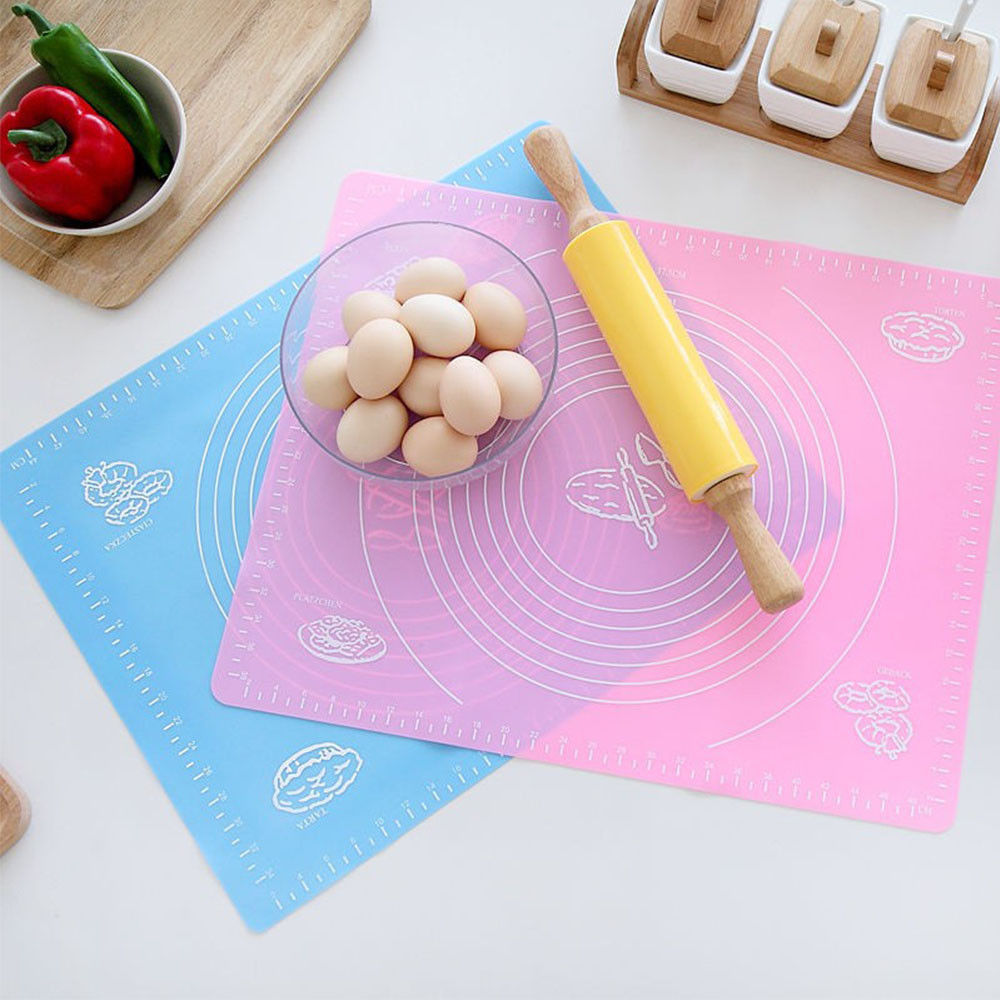 Silicone Knead Flour Dough Placement Pad Mat Pastry Fondant Cake Cooking Ove