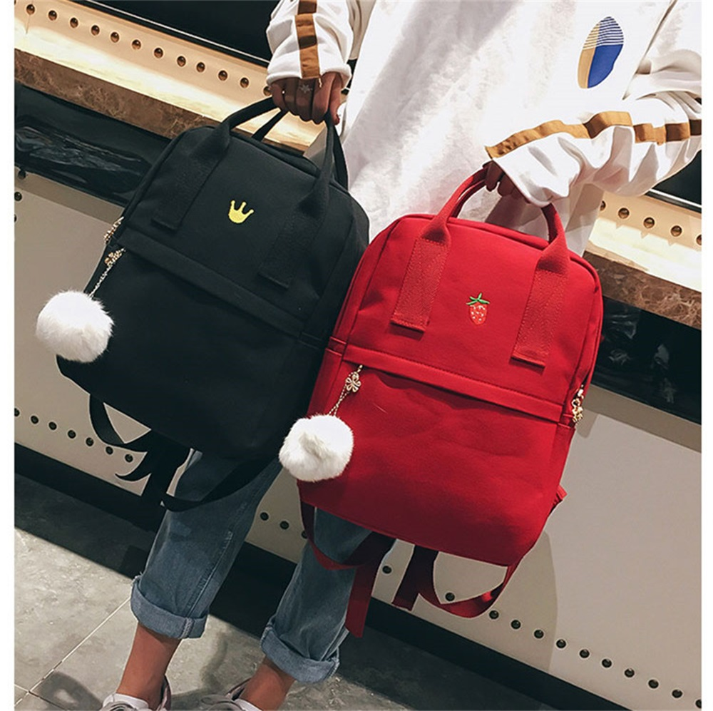 Women's Bags Fast Deliver Preppy Women Backpack For School Teenagers Girl Vintage Stylish School Bag Ladies Fabric Backpack Female Bookbag Mochila 10