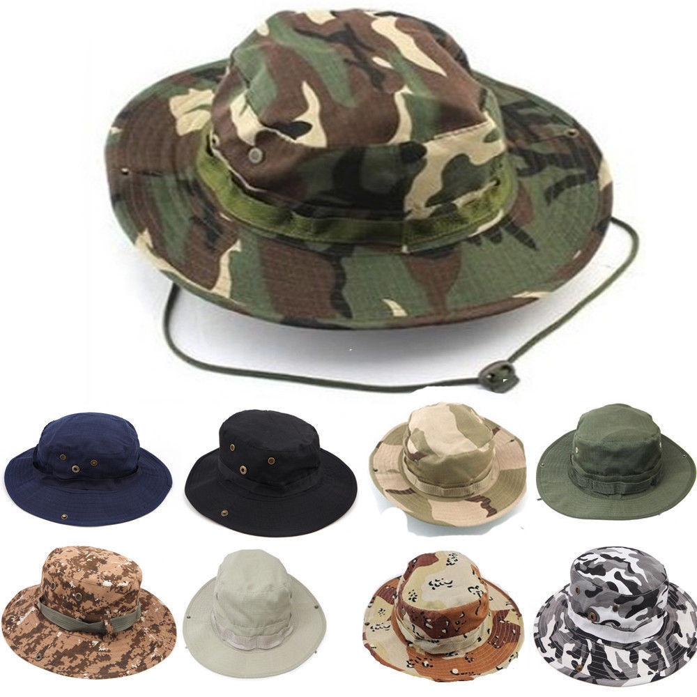 Details about Summer Bucket Boonie Hat Unisex Giggle Cotton Cap Fishing  Hunting Outdoor Beach a4de9e3bd85