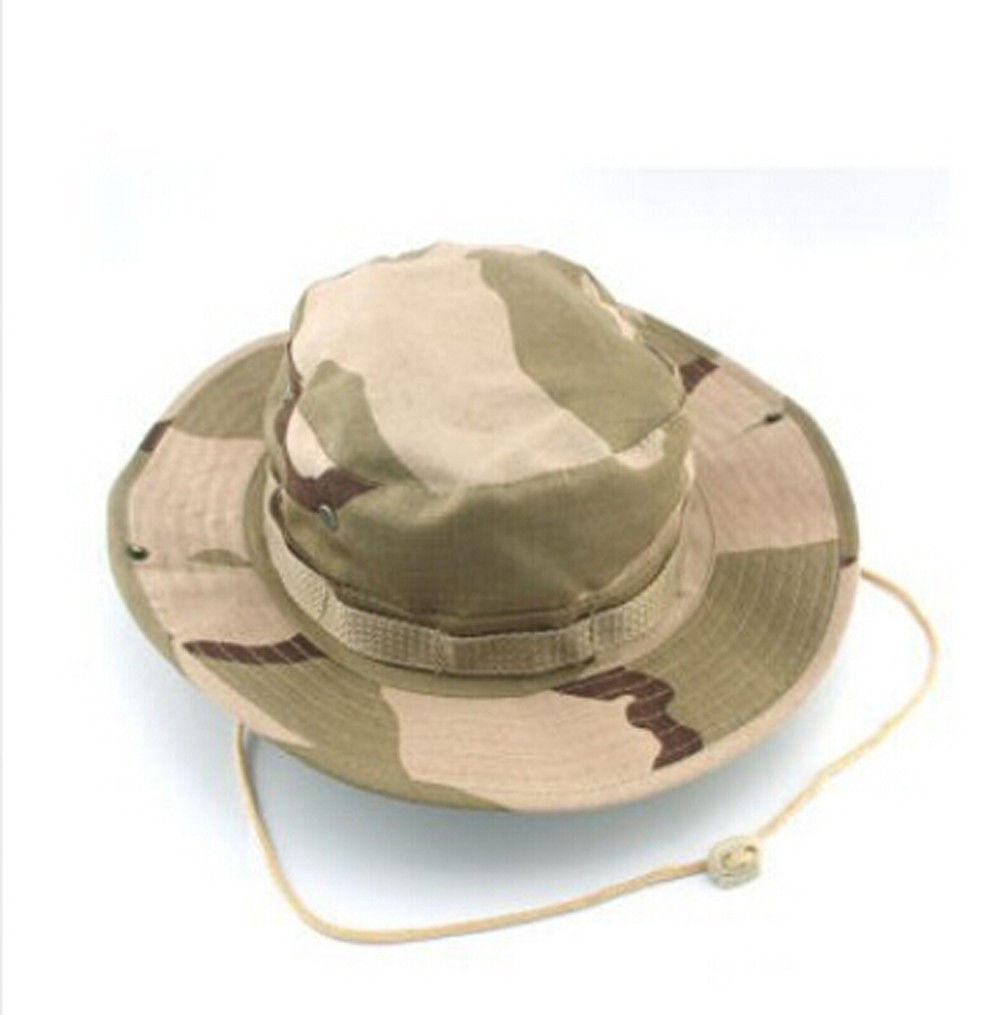 Unisex bucket hat boonie hunting fishing cap woodland for Fishing boonie hat