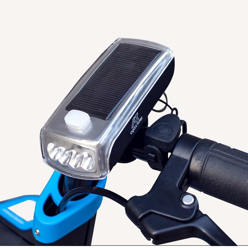 Waterproof Bike Bicycle Cycling LED Solar USB Front Head Light Headlight Lamp