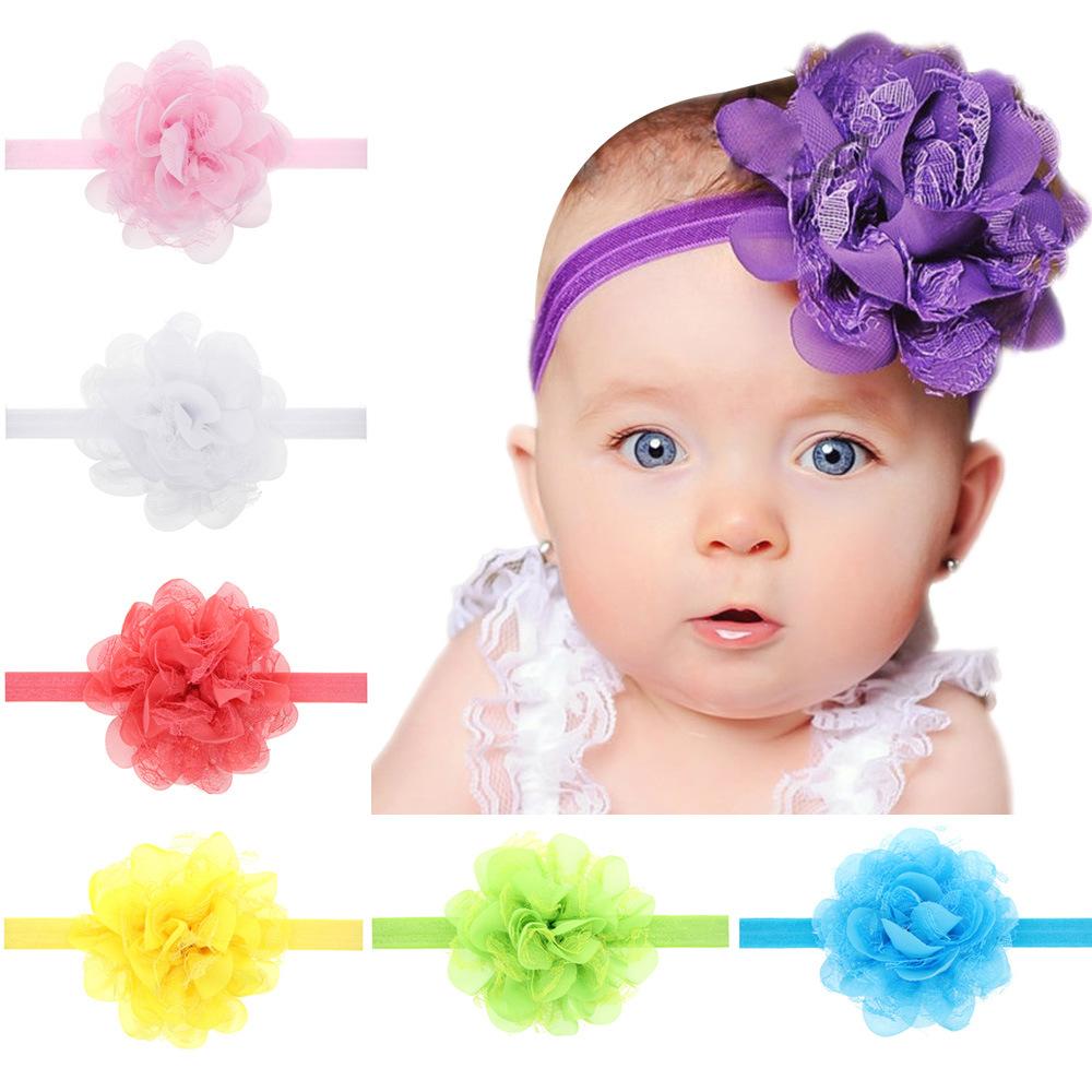 Girls Kids Baby Lace Flower Headband Hair Band Headwear Toddler