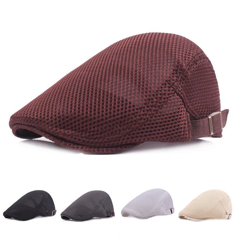Men/'s Mesh Breathable Summer Cap Adjustable Gatsby Newsboy Cabbie Beret Flat Hat