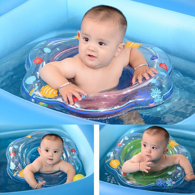 1* Baby Swimming Ring Inflatable Infant Armpit Floating Kids Swim ...