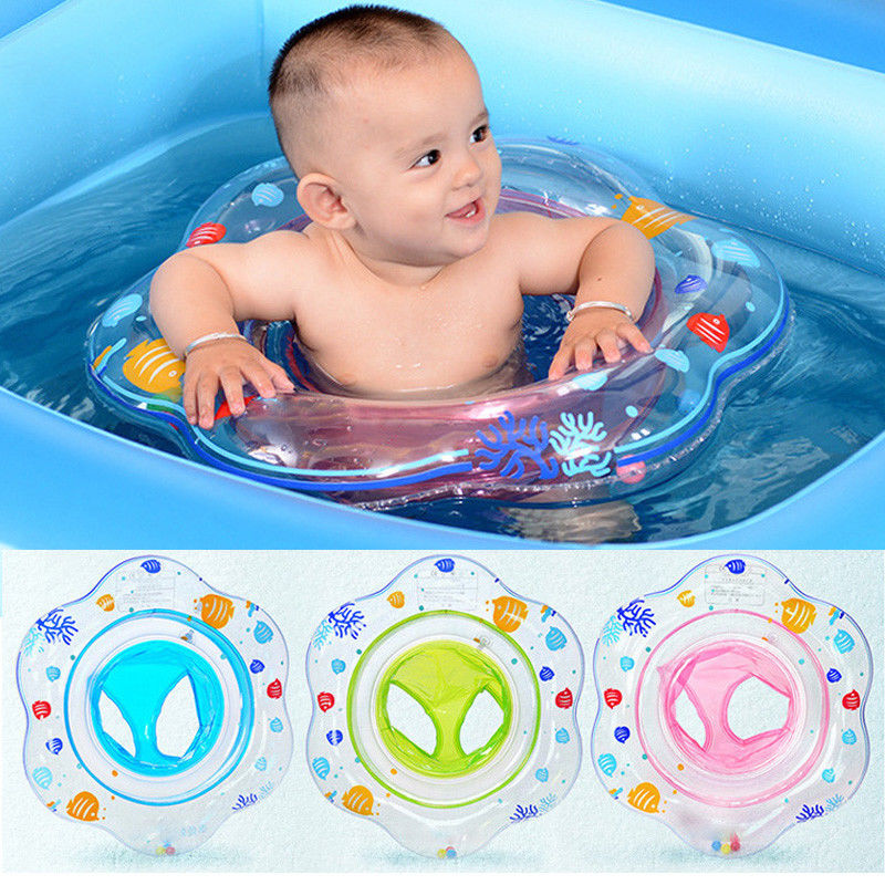 1x Kids Baby Seat Swimming Swim Ring Pool Aid Trainer Beach Float ...