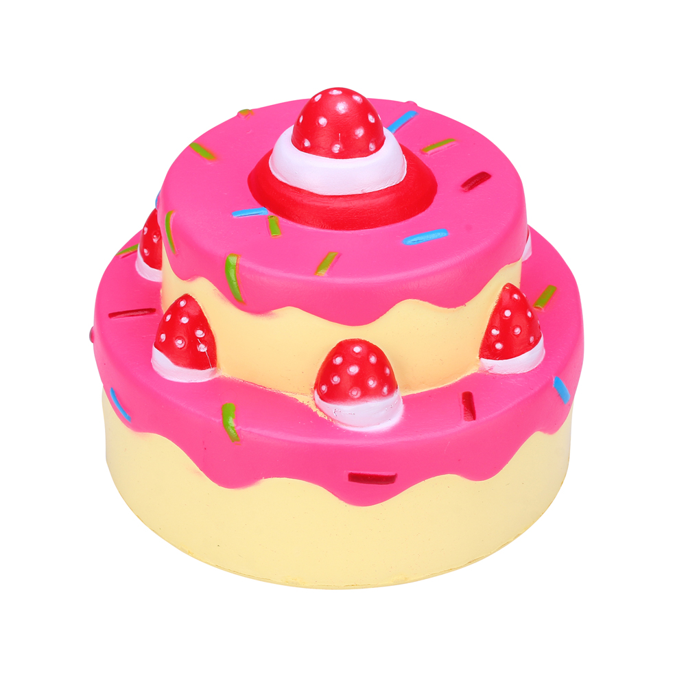 Squishy Cake Toy Target : Cute Squishies Soft Slow Rising 2 Layers Strawberry Cake Squishy Stress Toys eBay