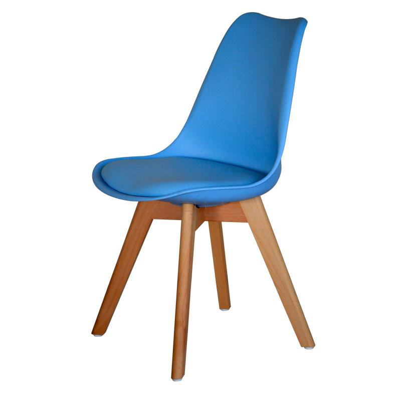 2 4 pcs dining chair padded retro replica eames eiffel dsw cafe kitchen pu seat ebay - Eames eiffel chair replica ...