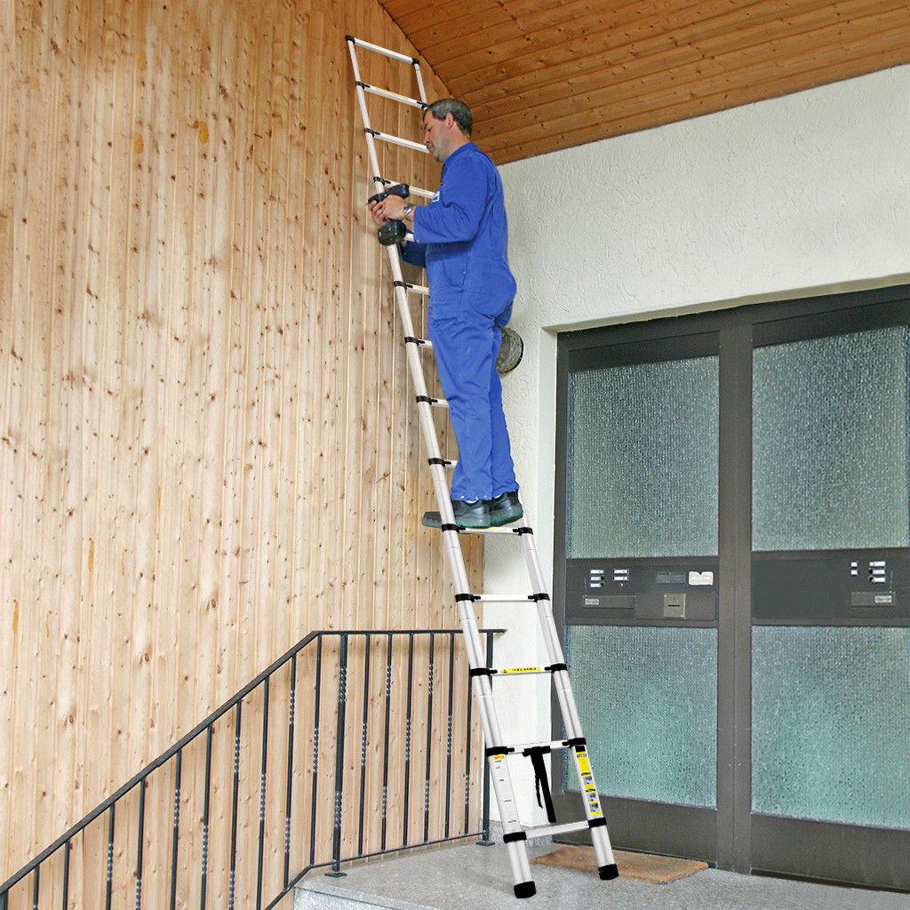 2/2.6/3.2M Multi Purpose Aluminium Ladder Telescopic Folding Extension Step 11