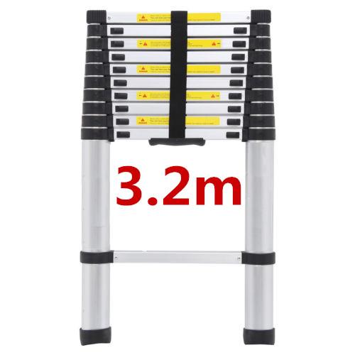2/2.6/3.2M Multi Purpose Aluminium Ladder Telescopic Folding Extension Step 4
