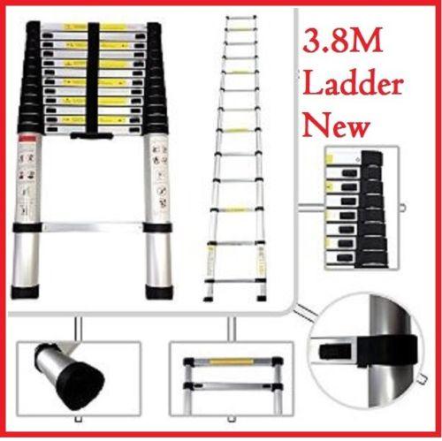 2/2.6/3.2M Multi Purpose Aluminium Ladder Telescopic Folding Extension Step 5