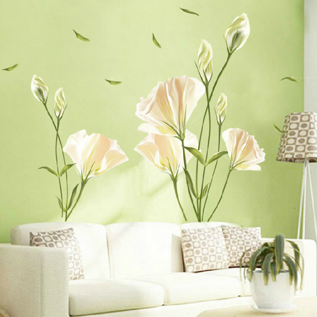 Removable Lily Wall Decal Mural Sticker Vinyl Home Decor Living Room ...
